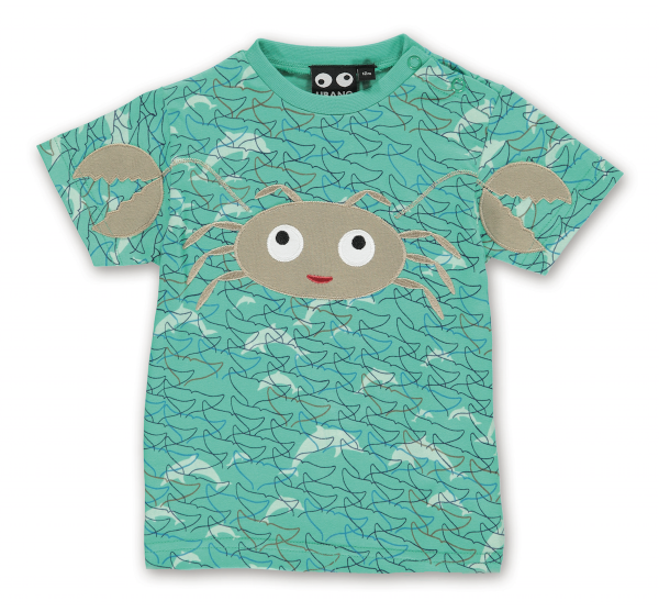 Kleinkind T-Shirt Crab, sea aqua