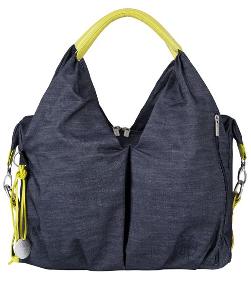 Green Label Neckline Wickeltasche, denim blue