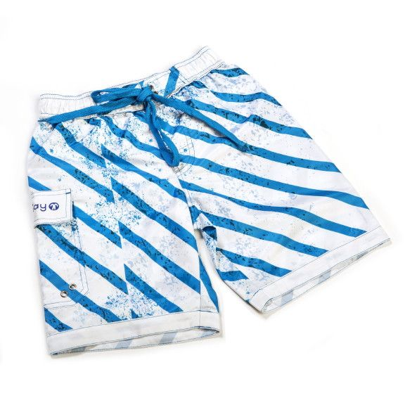 Kinder UV 50+ Badeshorts, BOARDSHORTS, Blue Stripe
