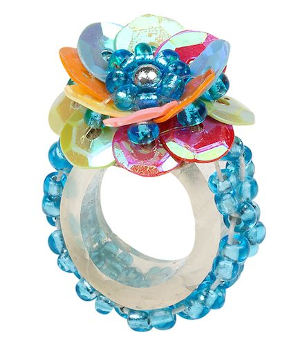 Kinder Ring Elina, bunt/blau