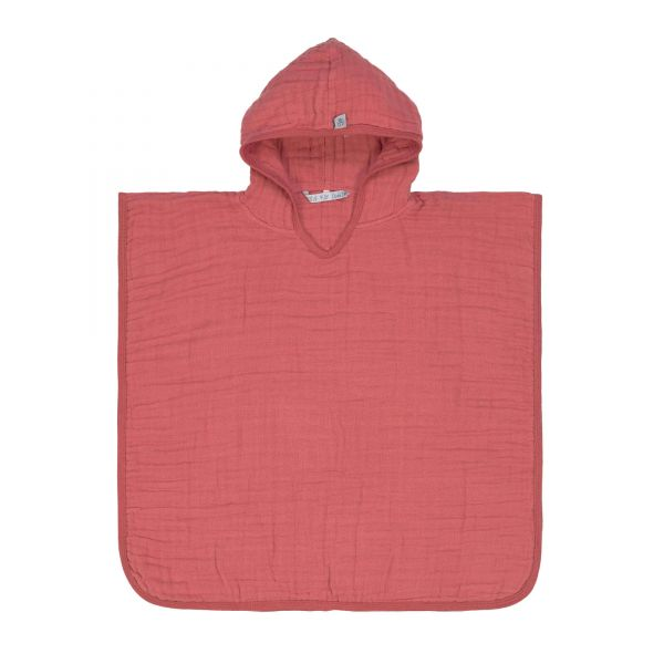 Kinder Musselin Poncho, rosa