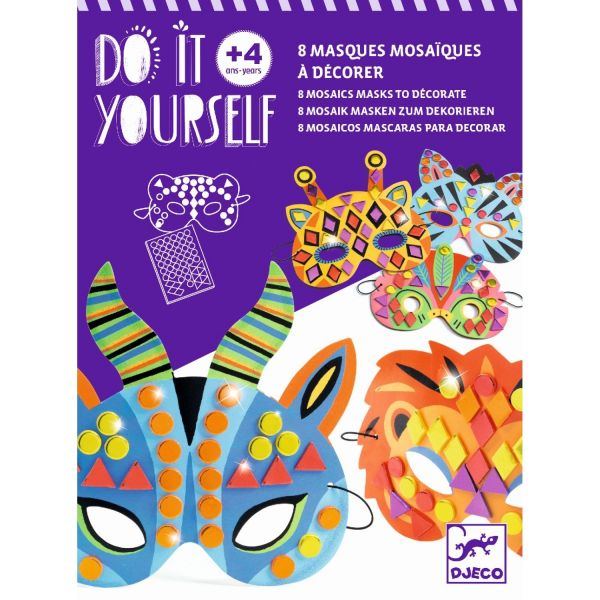 Djeco Do it yourself - Mosaik-Masken Dschungeltiere
