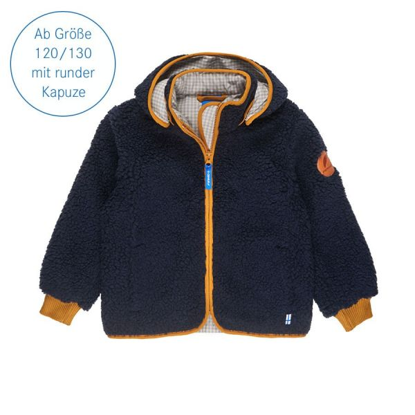 Zip In Jacke Tonttu Teddy, navy/harvest gold