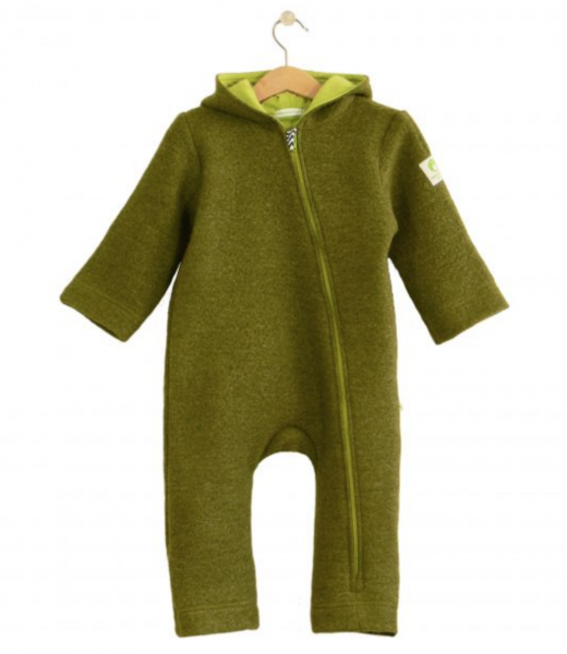 Baby Walkwolle Overall ANU, grass