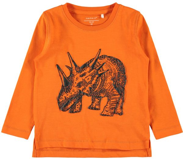 Jungen Longsleeve Nmmnorman, orange
