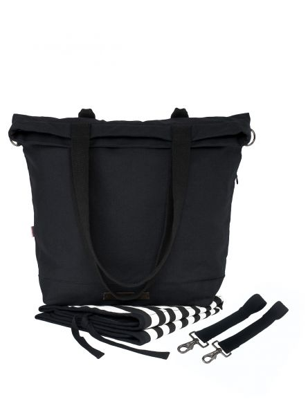 Wickeltasche global traveler, schwarz