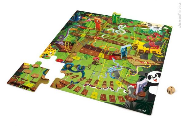 XXL Bodenspiel & Puzzle JUNGLE SNAKE