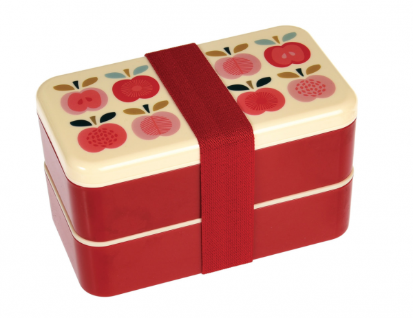 Bento Lunchbox, Vintage Apples'