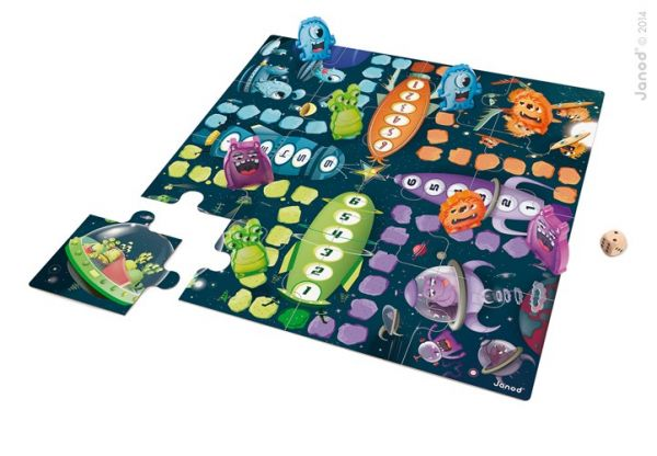 XXL Bodenspiel & Puzzle SPACE MONSTERS