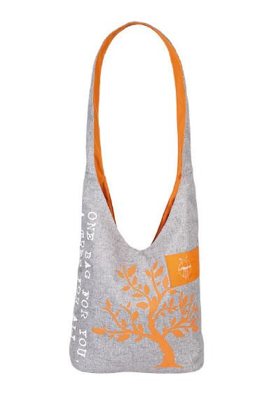 Green Label Shopper Bag, orange