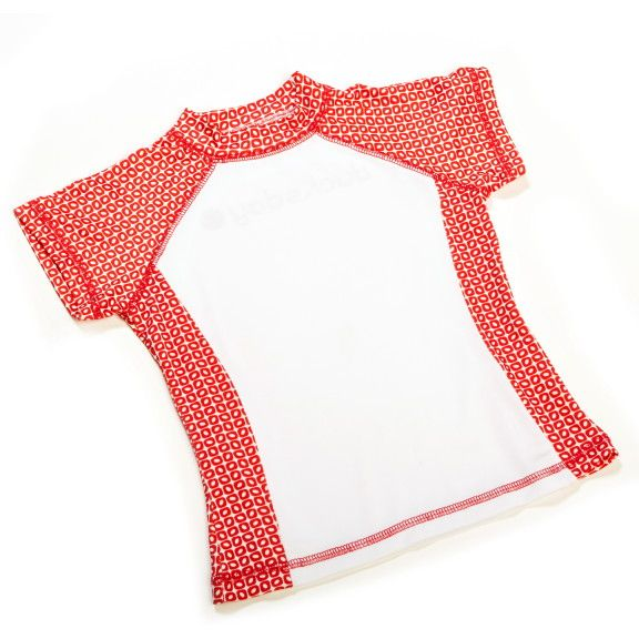 Kinder UV 50+ Badeshirt, funky red