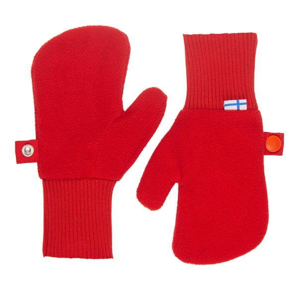 Kinder Fleece Fäustling Nupujussi, red