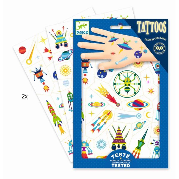 Kinder Tattoos Glow in the Dark, Space Oddity