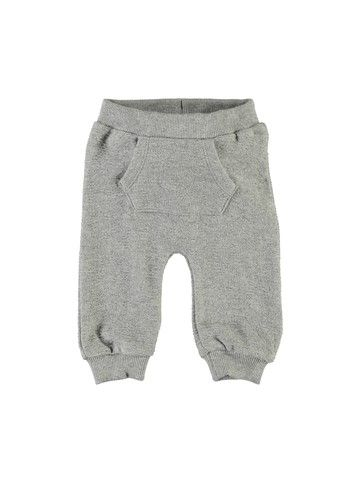 Baby Single Jersey Hose Nbnuxoda, grey melange