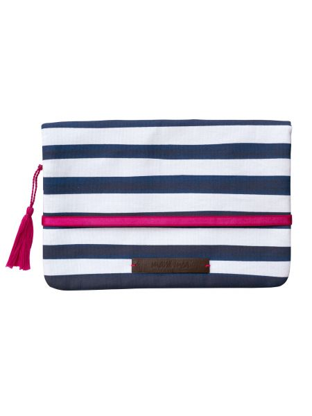 Clutch Windeltasche – having a picnic, navy striped