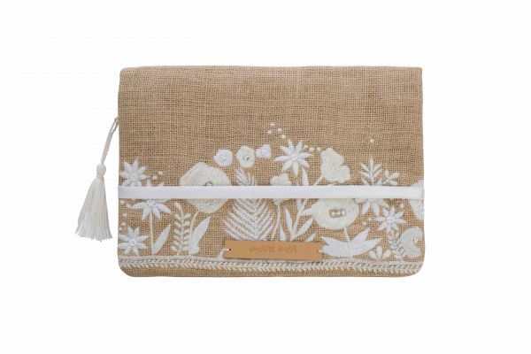 Windeltasche Clutch little crush, beige