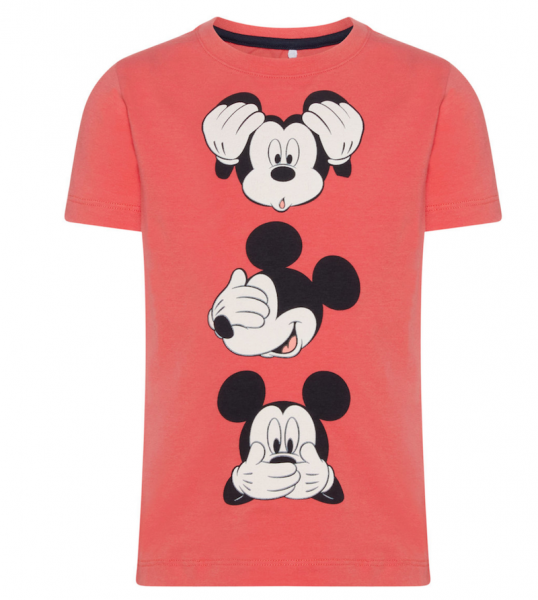 T-Shirt Mickey Maus, spiced coral