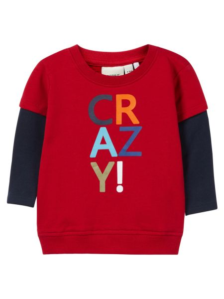 Kleinkind Sweatshirt Nbmolli Light, jester red